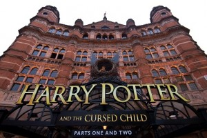 "LONDON, ENGLAND - JUNE 07:  A general view of The Palace Theatre as previews start today for ""Harry Potter and the Cursed Child"" on June 7, 2016 in London, United Kingdom. The play has a sold out run until May 2017 with fans expected to fly to London from all over the world to see it.  (Photo by Ben A. Pruchnie/Getty Images)"
